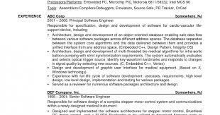 Embedded Engineer Resume Sample by Software Engineer Resume Samples Sample Resumes