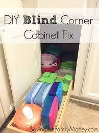 diy blind corner cabinet fix kitchen best of saving the family