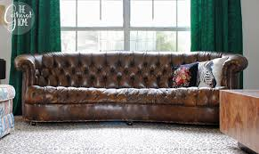 Vintage Leather Chesterfield Sofa Found Vintage Leather Chesterfield Floozy Edition The