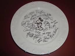autograph plate best diy disney character autographed souvenirs