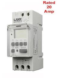programmable 24 hour timer switch 240v ac 20a din rail mounted