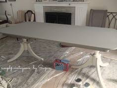 Dining Room Furniture Montreal Very Close To My Dining Room Table Refinished In Gray With
