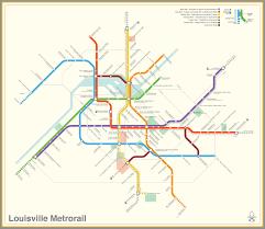 Metrorail Map Submission Fantasy Map Louisville Kentucky Transit Maps