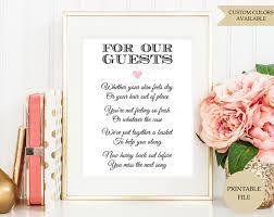 wedding bathroom basket ideas bathroom refreshments sign for wedding guests wedding bathroom