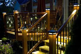 trex post cap lights deck post lights dekor rondi led post cap light illionis home