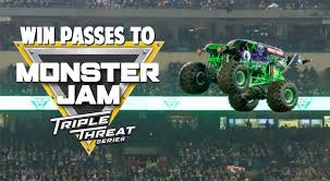 monster truck jam vancouver win passes to the monster jam triple threat series at pacific