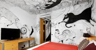 stay in a hand painted artist room at park hotel tokyo