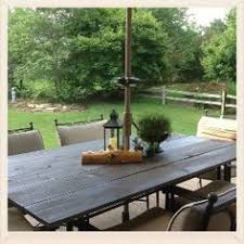 Glass Top Patio Tables Broken Glass Top Patio Table Redone With Wood Home On The Range