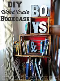 Crate Bookcase Diy Wood Crate Bookcase