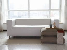Leather White Sofa Living Room Astounding Ikea White Couch Ikea Klippan Modern