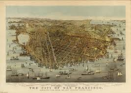 Map Of San Francisco California by San Francisco Birds Eye View David Rumsey Historical Map Collection