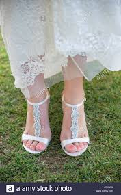 wedding shoes for grass wedding shoes on grass stock photo 139941814 alamy