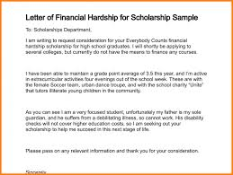 sample scholarship request letter financial aid request letter