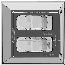 what are the dimensions of a 3 car garage interesting basement