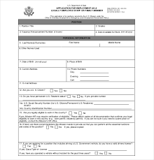 employment application templates u2013 10 free word pdf documents