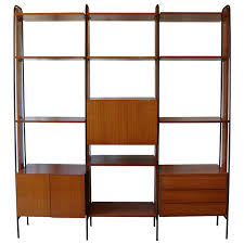 Room Divider Storage Unit - an important vintage italian three section room divider wall unit