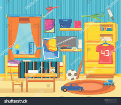Large Childrens Room Furniture Window Toys Stock Vector 468257570