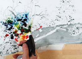 how to mix watercolors by pouring and blending and other