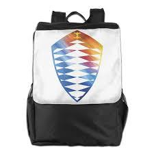 koenigsegg logo black and white koenigsegg cool logo design daypack travel backpack for men women