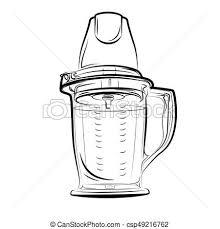 dessins de cuisine blanc mixer noir dessin cuisine illustration vecteur clip