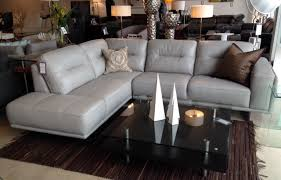 Light Gray Leather Sofa Gray Leather Sectional Intended For Prepare 17