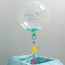 personalised new home confetti bubble balloon by bubblegum