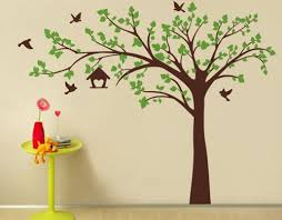 Tree Wall Decal For Nursery Pop Decors Wall Decor Popdecors Big Tree With Birds 100 W