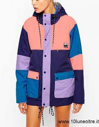 2017 donna lazy oaf giacca impermeabile a vari blocchi di colore