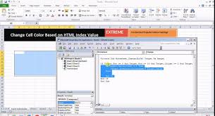 excel vba change cell color with colorindex value youtube