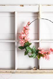 Spring Wreath Ideas Simple Floral Farmhouse Wreath