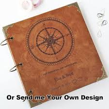 Leather Guest Book Wedding Custom Wedding Map Leather Guest Book Personalized Destination
