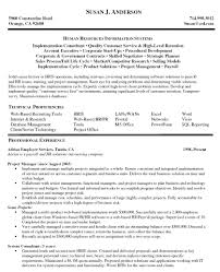 Human Resources Resume Objective Examples by Sample Resume Computer Information Systems