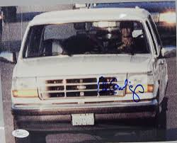 white bronco car al cowlings signed close up 8x10 photo driving the white bronco