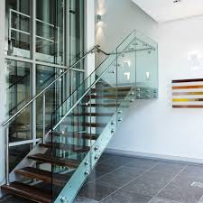 Glass Staircase Design Contemporary Glass Staircase Feat Wall Light Fixtures Also Metal