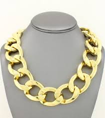 large link necklace images Large gold coco chunky statement square link chain necklace gold jpg