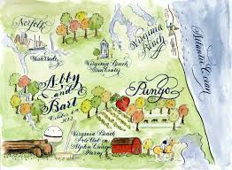 Map Of Virginia Beach by Designs By Robyn Love Virginia Beach Calligraphy Watercolor
