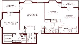 3 bedroom 3 bath floor plans three bedroom apartments for senior living at riddle village