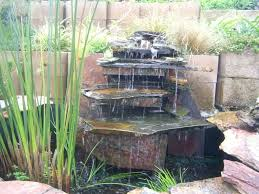 patio ideas outdoor patio waterfalls stone waterfall in the