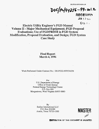 electric utility engineer s fgd manual volume 2 major
