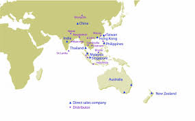 Asia Pacific Map by Sales U0026 Service Network Ricoh Asia Pacific