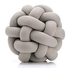 knot pillows amazon com knot pillow grey home kitchen