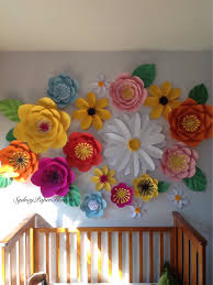 floral wall made with paper diy crafts pinterest giant