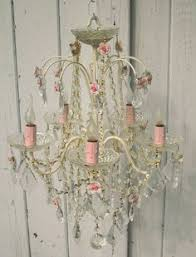 Shabby Chic Lighting Chandelier by Nice Antique Pink Crystal Chandelier Romantic Cottage Chandelier