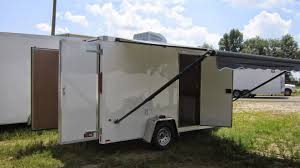 Toy Hauler Awning National Guard Cargo Trailer With Awning By Trailerlogic Youtube