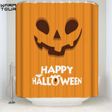 halloween orange background compare prices on shower halloween curtain online shopping buy