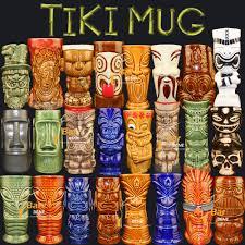 tea coffee mugs ceramic tiki mug milk mug home bar decor hawaiian