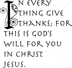 in evertything give thanks scripture word