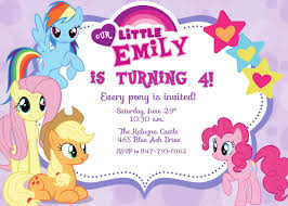 Create Birthday Invitation Cards My Little Pony Birthday Invitations Birthday Party Invitations