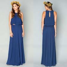 Navy Blue Lace Dress Plus Size New 2016 Two Pieces Bridesmaids Dresses Navy Blue Chiffon Junior