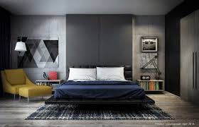 bedroom modern bedroom features wooden platform bed and butterfly